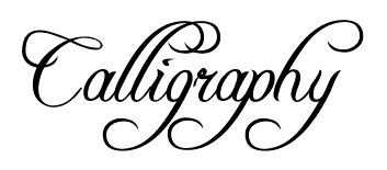 Free Printable Calligraphy Alphabet Fonts