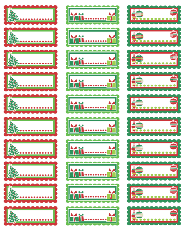Free Printable Christmas Address Labels