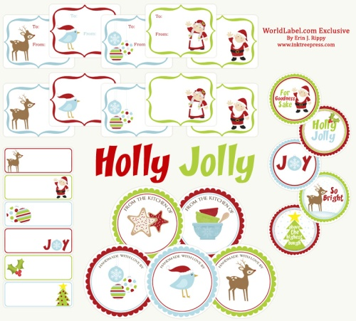 Free Printable Christmas Gift Tag Labels