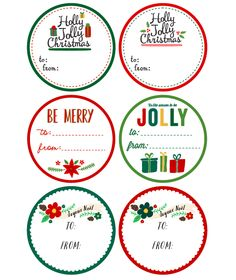 Free Printable Round Christmas Labels Templates