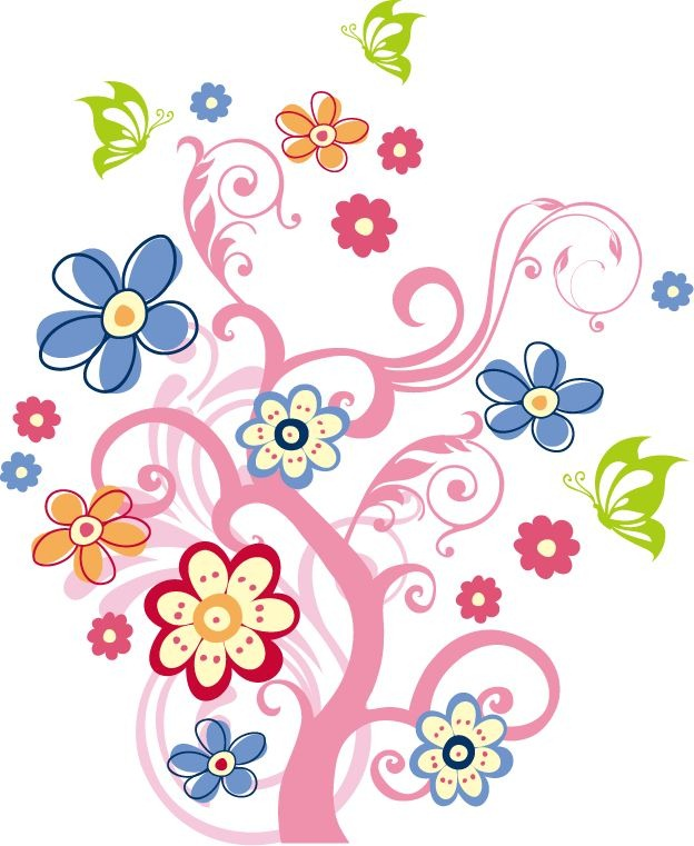 Free Vector Art Graphics Flowers