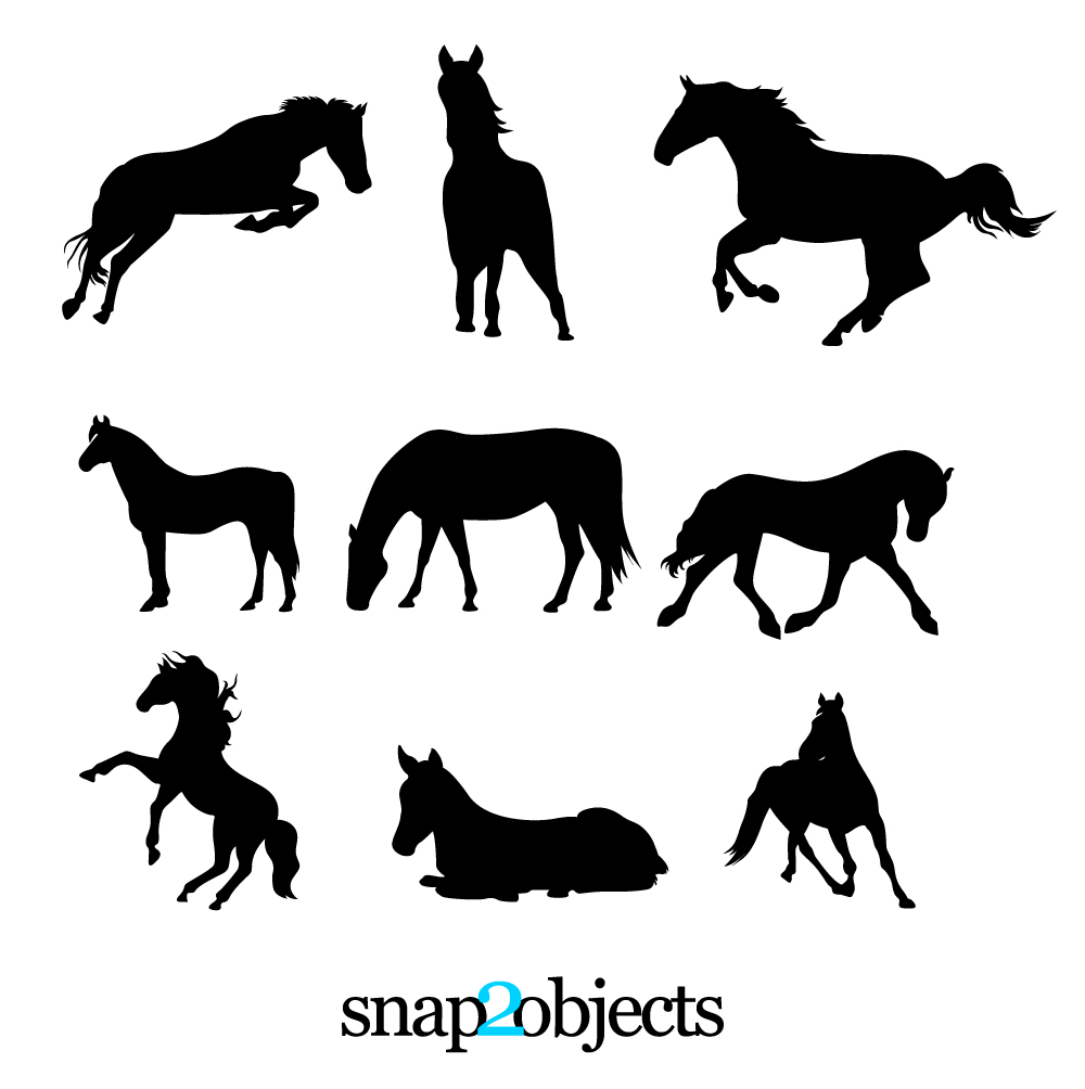 Free Vector Horse Silhouettes