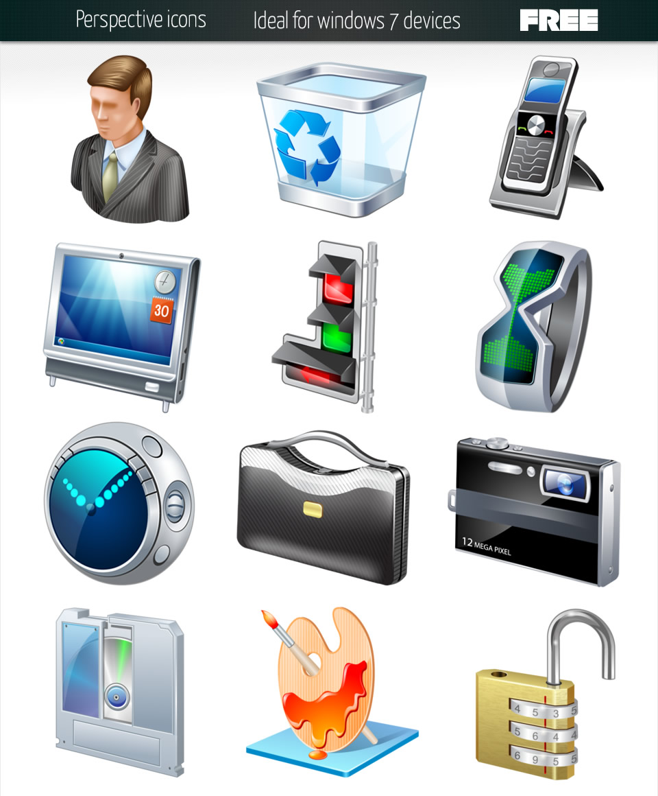 16 Clorful Free Icons Windows 7 Images