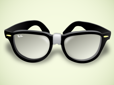8 Nerd Glasses PSD Images