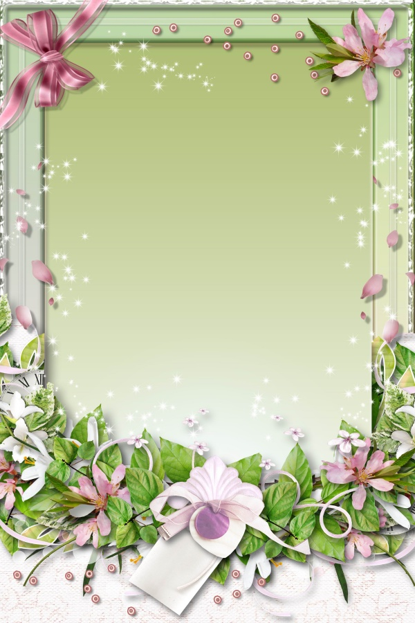 Green Flower Borders and Frames