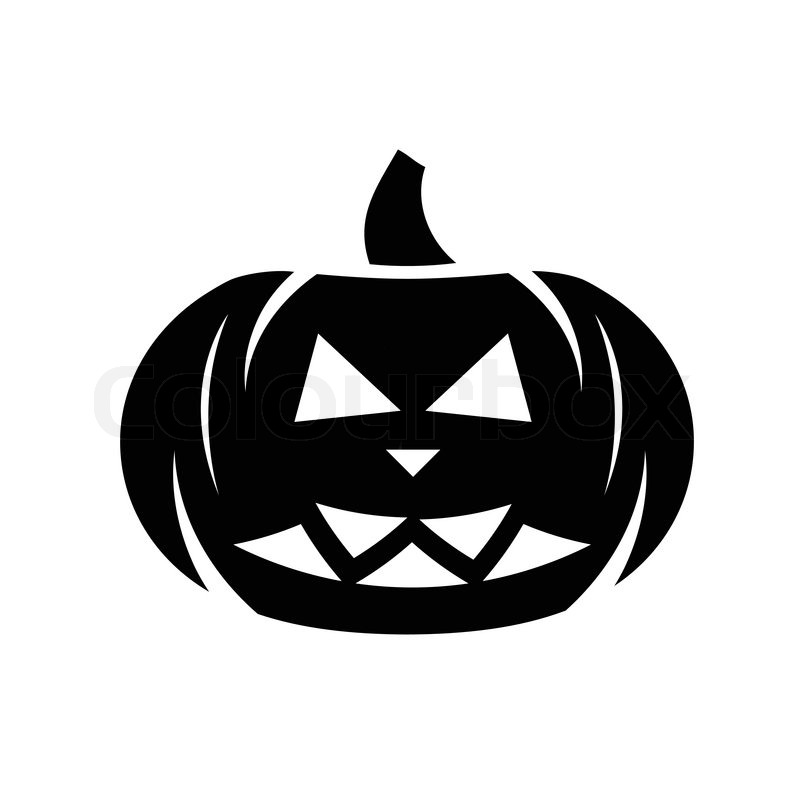 Halloween Black Pumpkin Icon