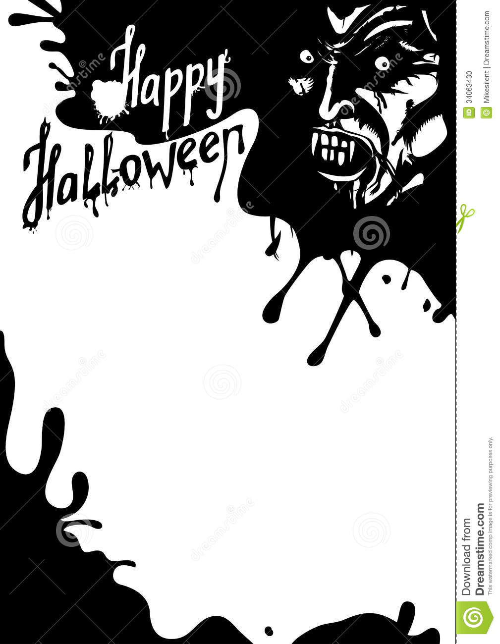 Halloween Flyer Black and White