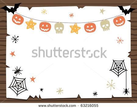 Halloween Wooden Sign Clip Art
