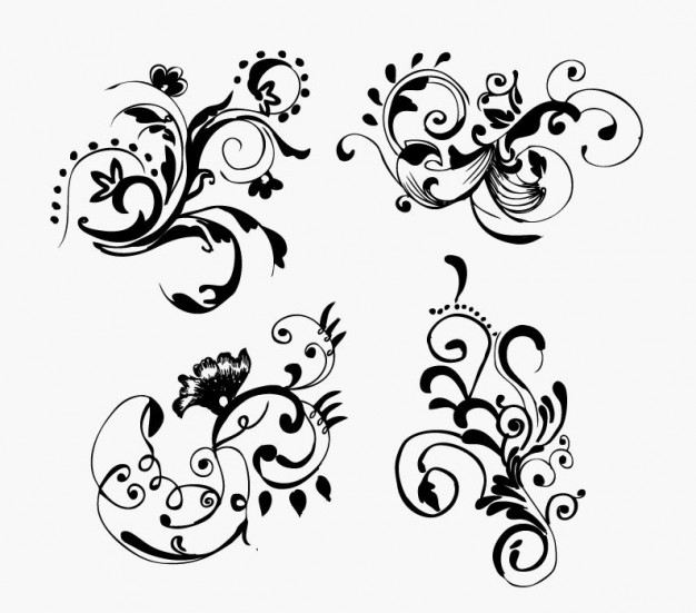 Hand Drawn Flower Vector Graphic