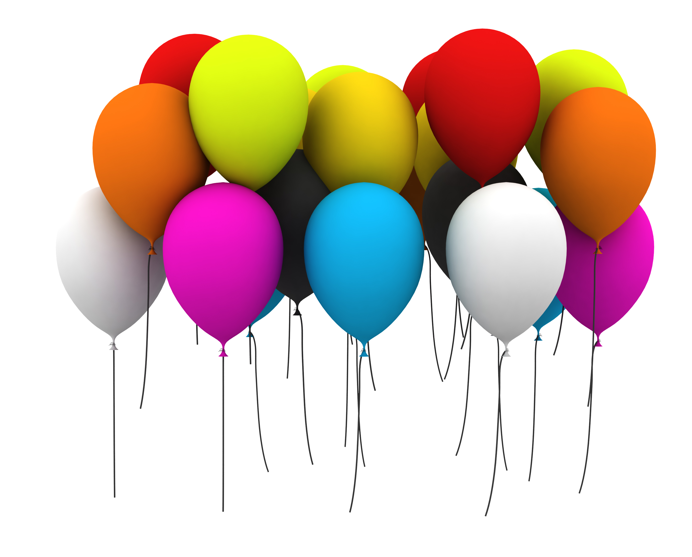 Happy Birthday Balloons Clip Art Images Free