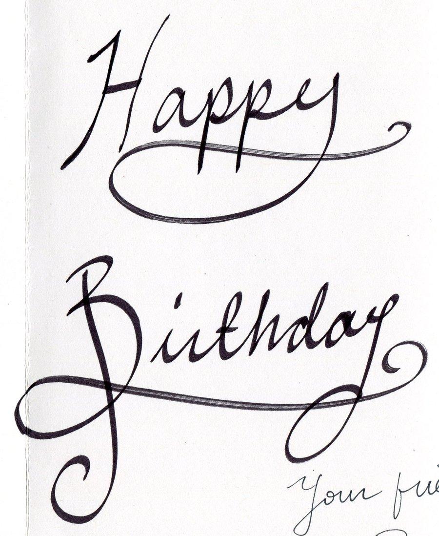 17 Drawing Happy Birthday Font Images Happy Birthday