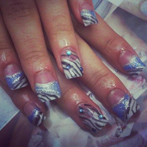 Light Blue Acrylic Nail Designs
