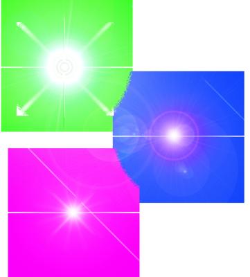 14 PSDs Flares Color Images - Light Explosion, Lens Flare ...