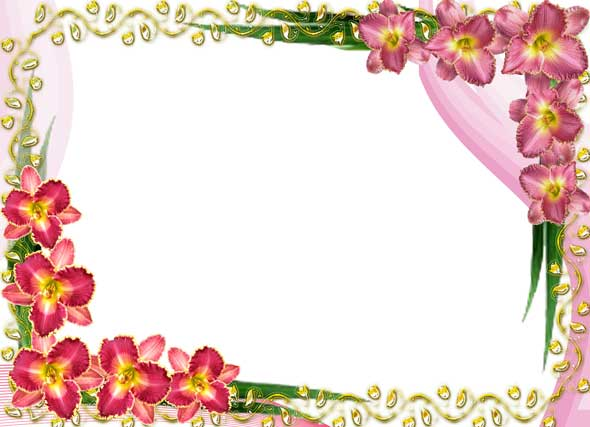 Lily Flower Frame