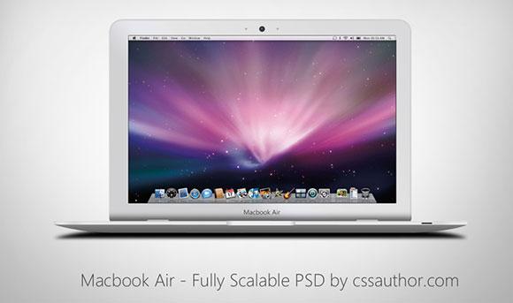 MacBook Air Mockup PSD
