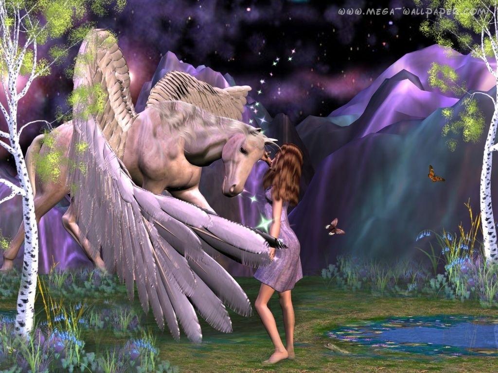 Mermaids with Unicorns and Pegasus