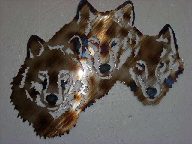 Metal Art Wolves