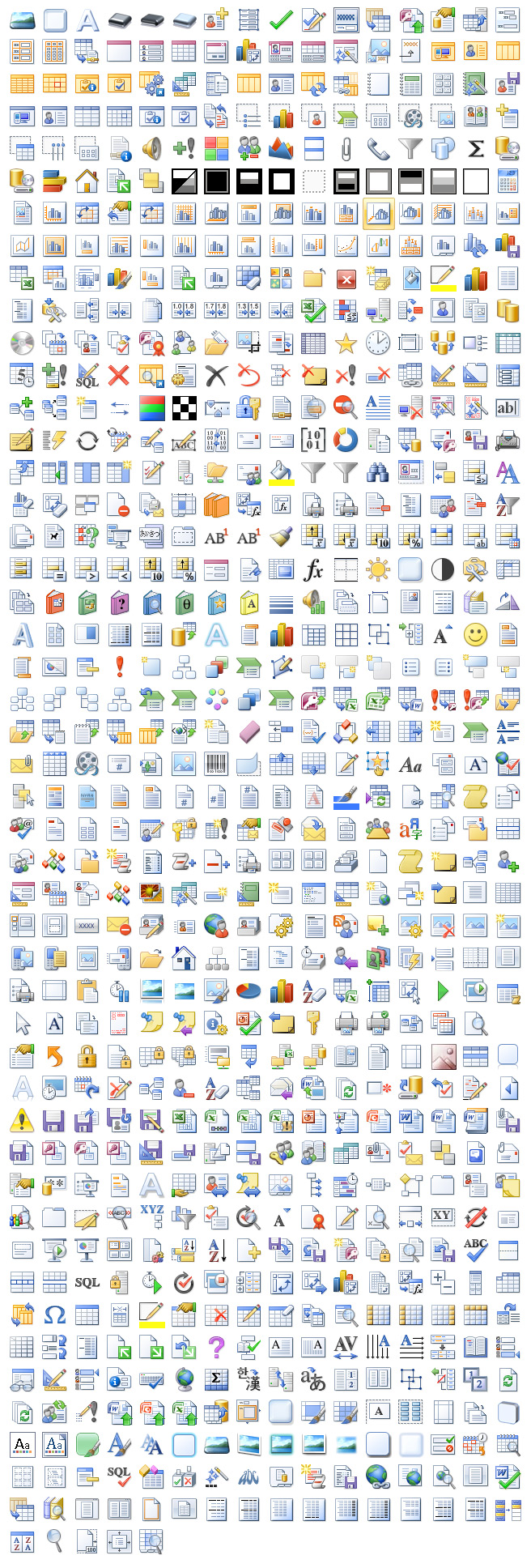 Microsoft Office 2007 Icons Missing