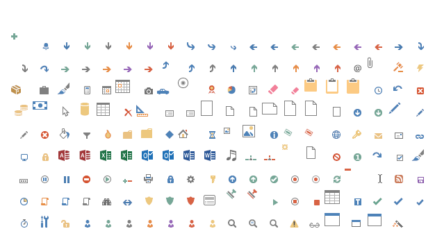 Microsoft Office Icons 2013 Vector