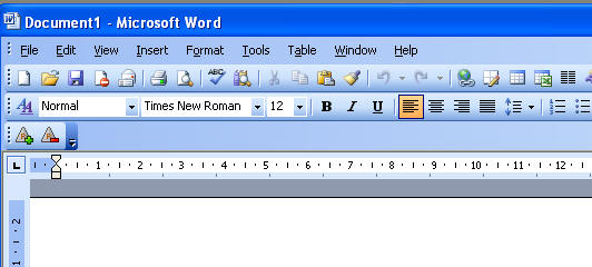 Microsoft Word 2003 Toolbar Icons