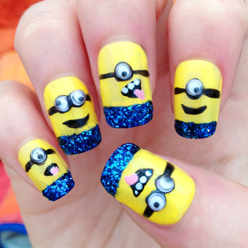 Minion Nail Art Designs