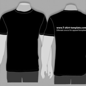 Model T-Shirt Template Front and Back