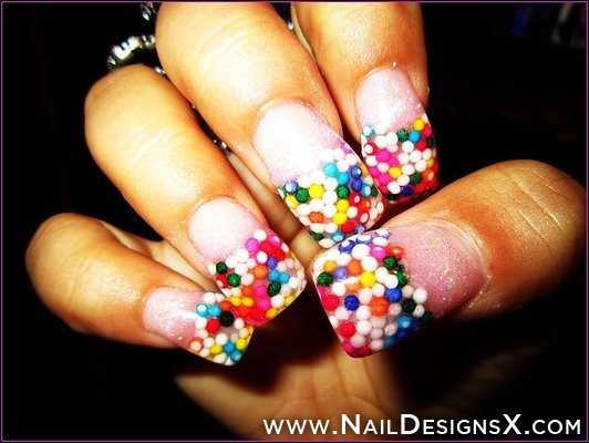 Neon Pink Acrylic Nail Designs