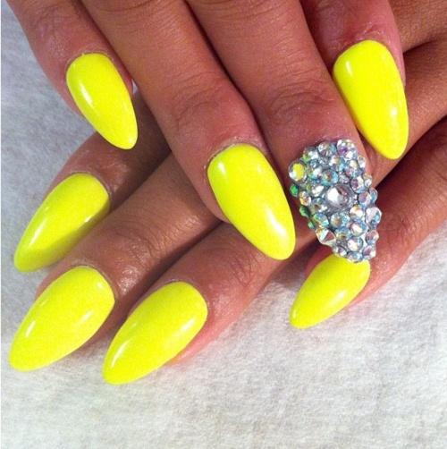 Neon Yellow Nail Designs