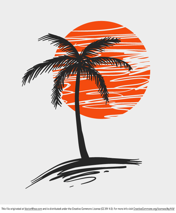11 Simple Palm Tree Vector Images