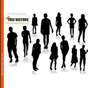 Person Silhouette Vector Free