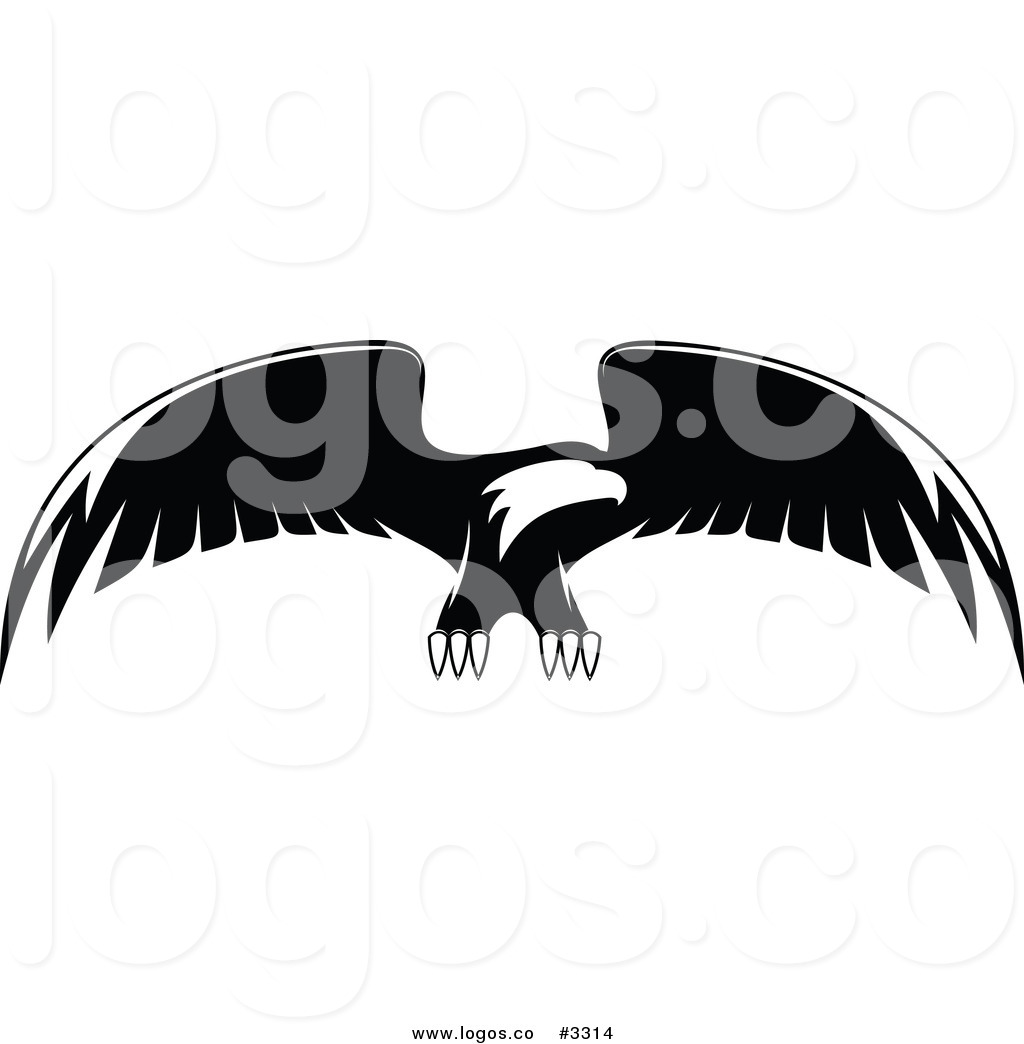 Pictures of Bald Eagle Black and White Logos