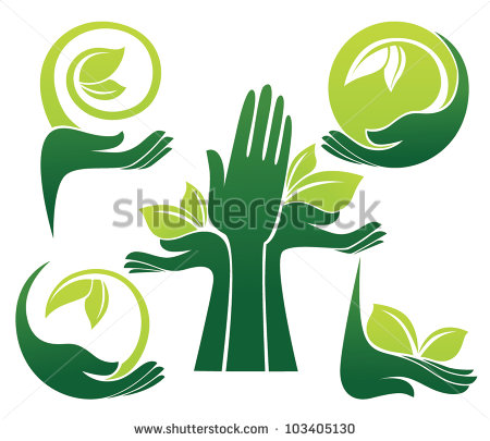 Plant Growing in Hand Clip Art