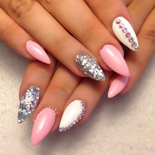 13 Pointy Nail Designs 2015 Images