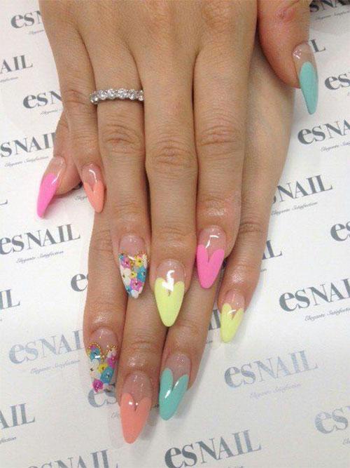 Pointy Nail Art Designs 2015