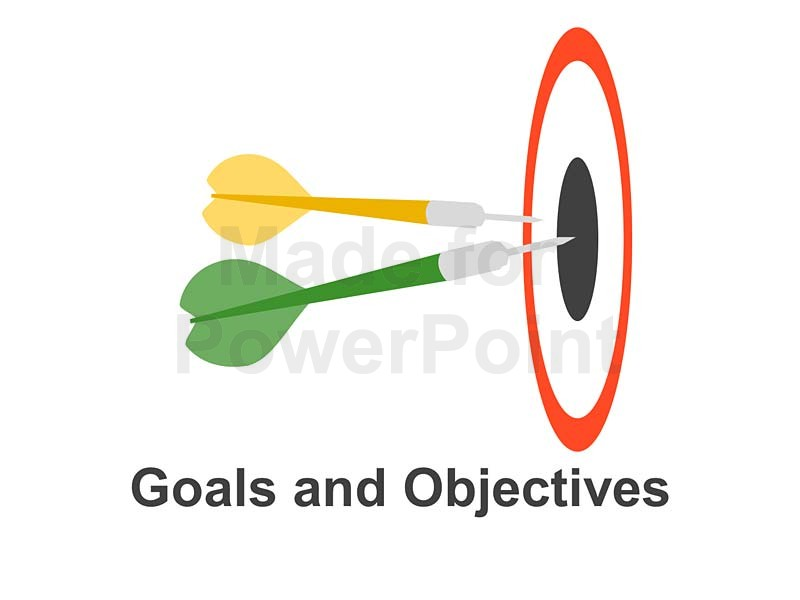 13 business goals and objectives icons images business for Company goals and objectives template