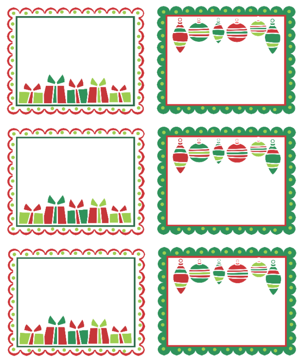Printable Christmas Labels Templates