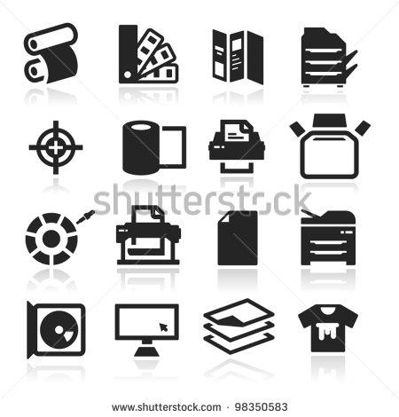 Printer Icon Vector Free