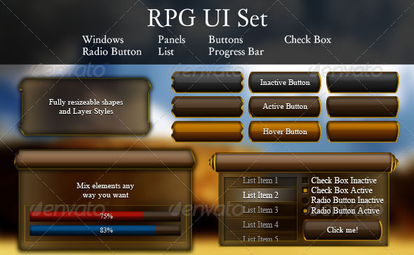 12 Mobile Game UI PSD Images - Mobile Game UI, Game Mobile