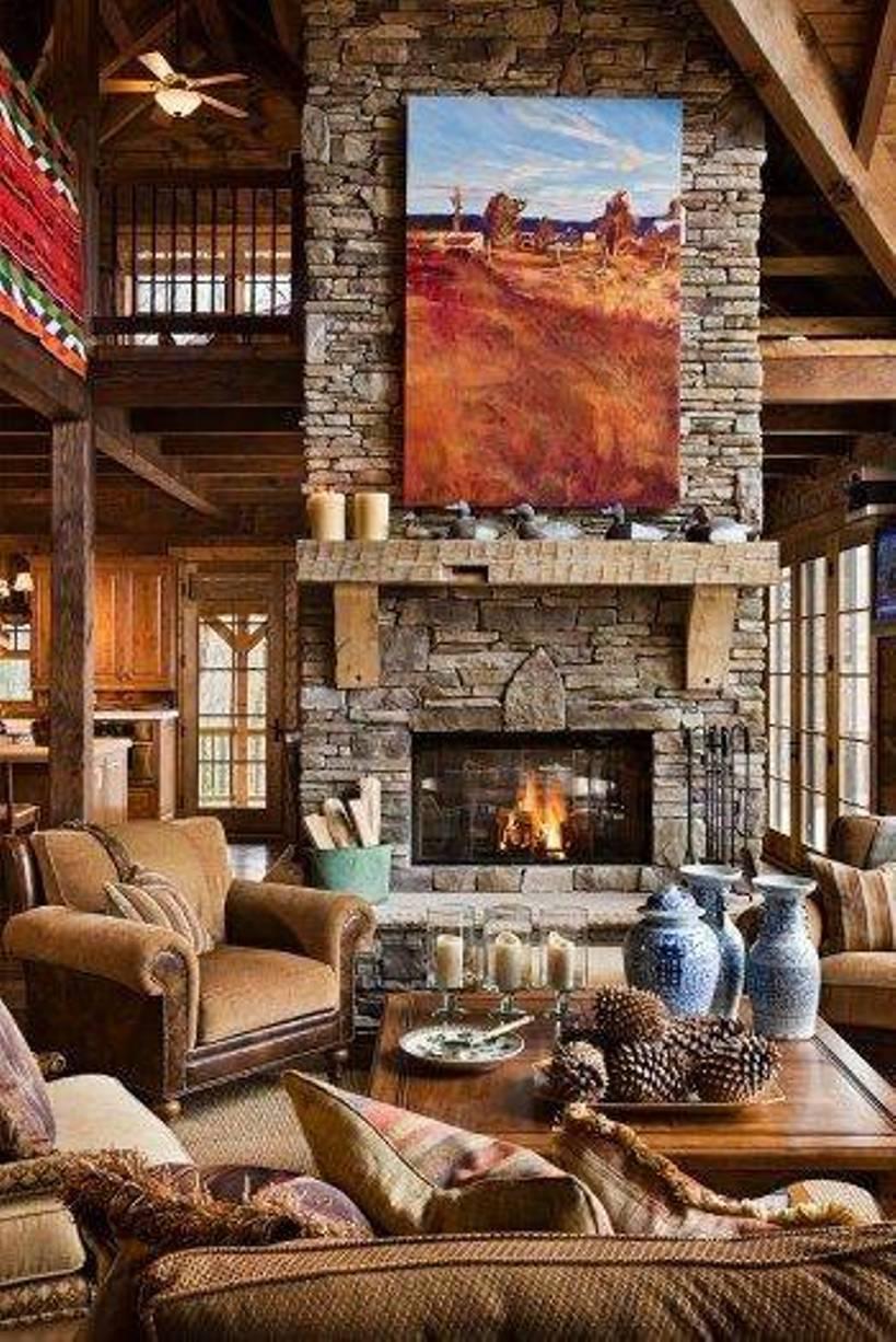 18 Rustic Cabin Interior Design Ideas Images - Rustic Log Cabin ...