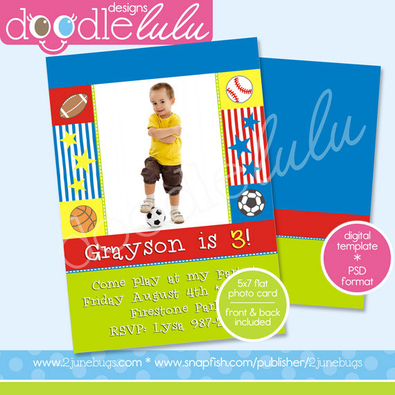 Sports Birthday Card Templates Free