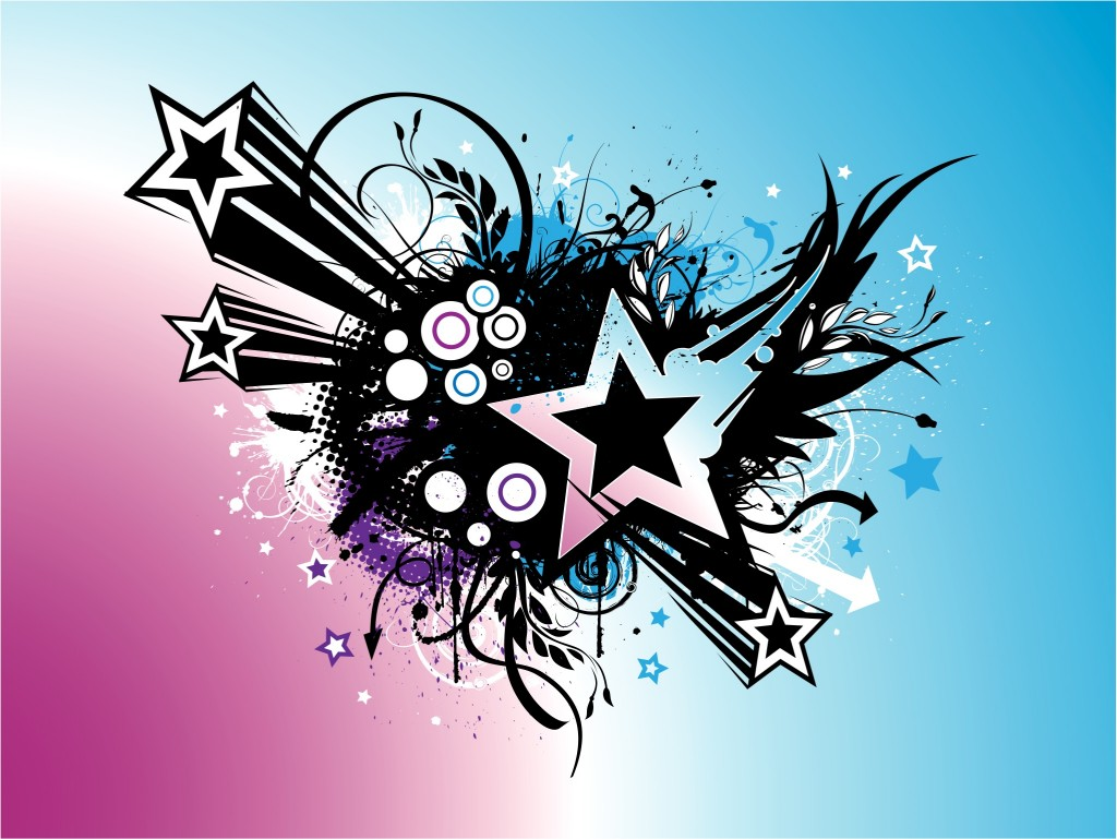 7 Grunge Star Vector Images