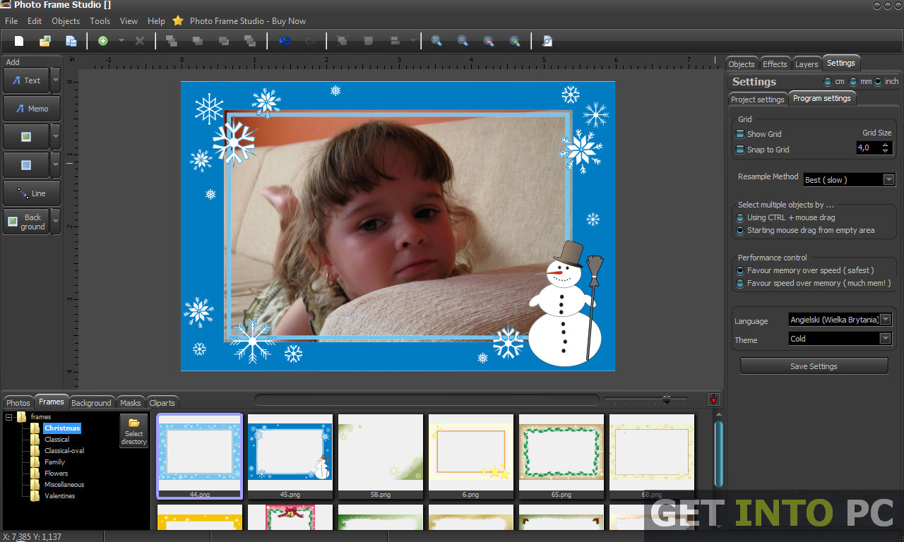free photo frame software for windows 7