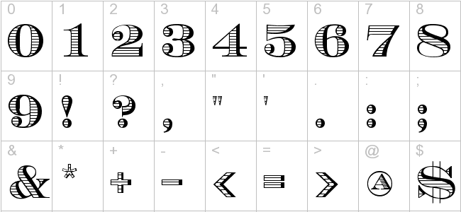 Tattoo Number Fonts