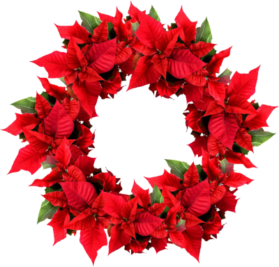 Transparent Christmas Wreath