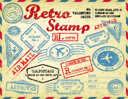 Travel Stamps Clip Art Free
