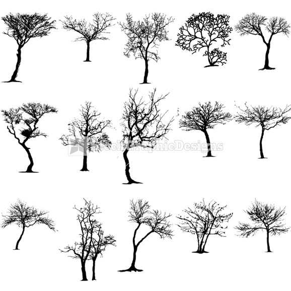 Tree Silhouette Vector Art Free