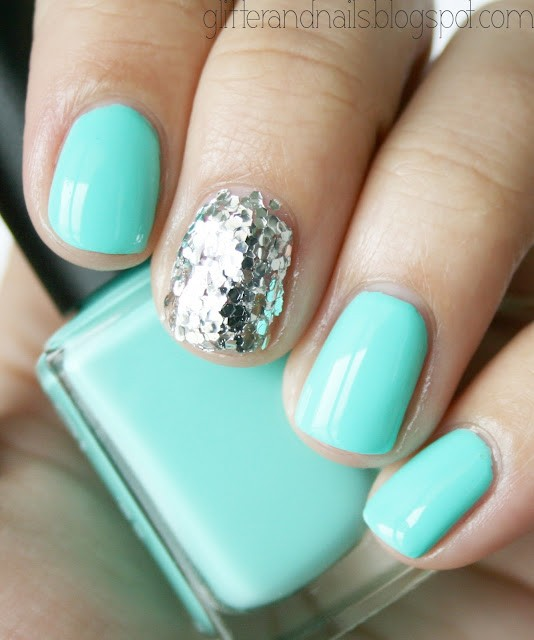13 Turquoise Nail Polish Designs Images