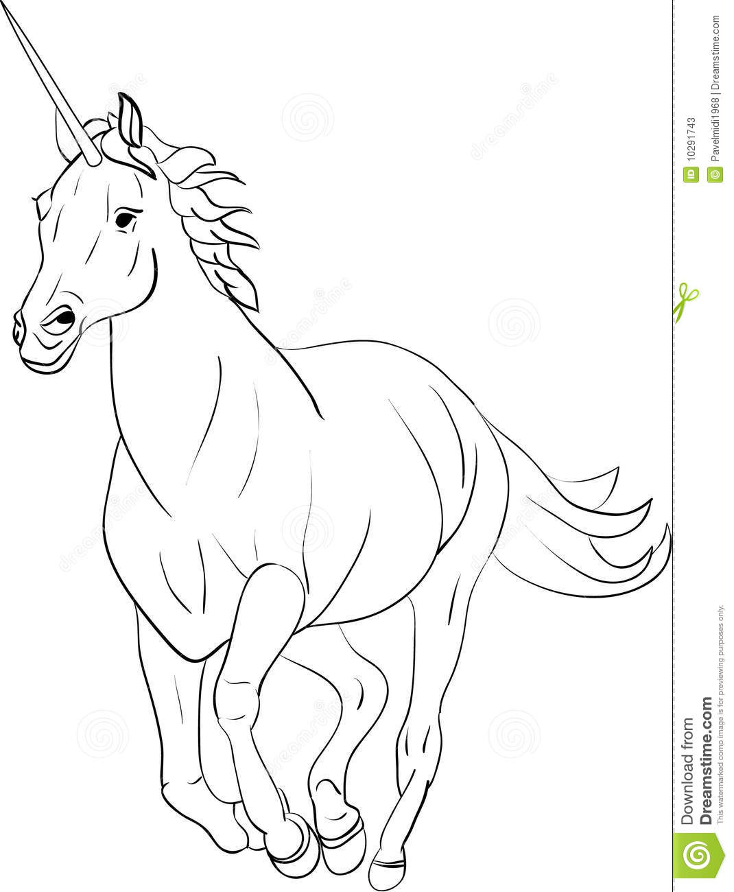 Unicorn with No Background Clip Art