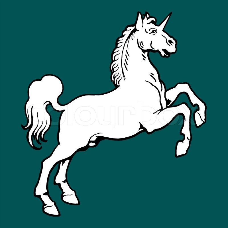 Unicorn with White Background