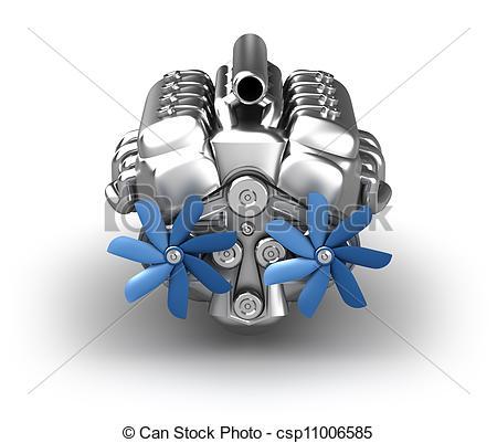 V8 Engine Clip Art